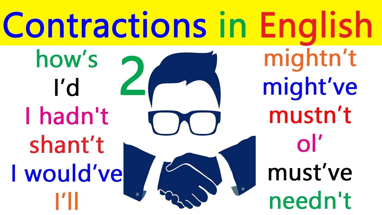 English contractions pronunciation with example sentences