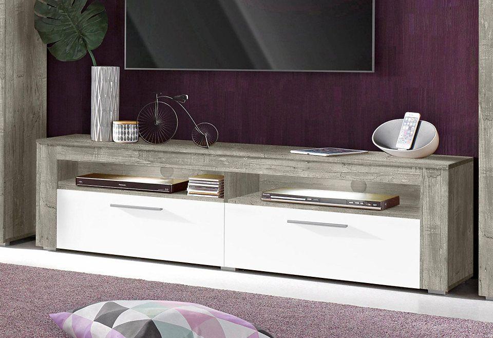 Lowboard, Breite 160 cm Jetzt bestellen unter   moebel - weiss grau wohnzimmer mit violett deko