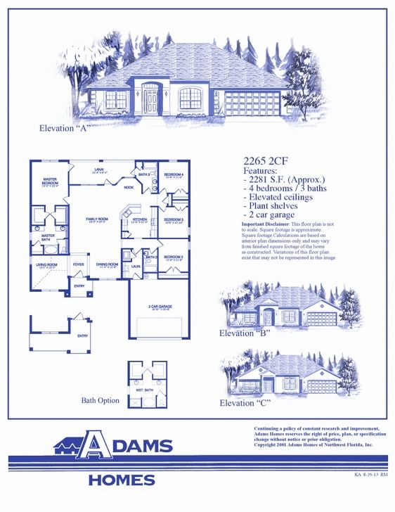 First Home Builders Of Florida Floor Plans Floor Plans How To Plan Adams Homes
