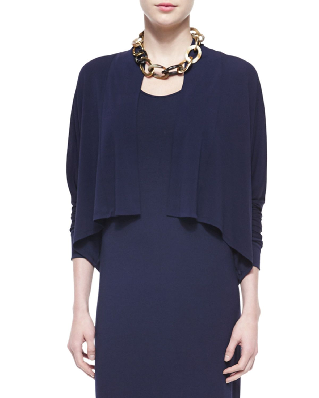 Stretch Silk Jersey Cropped Kimono Cardigan | Products | Pinterest ...