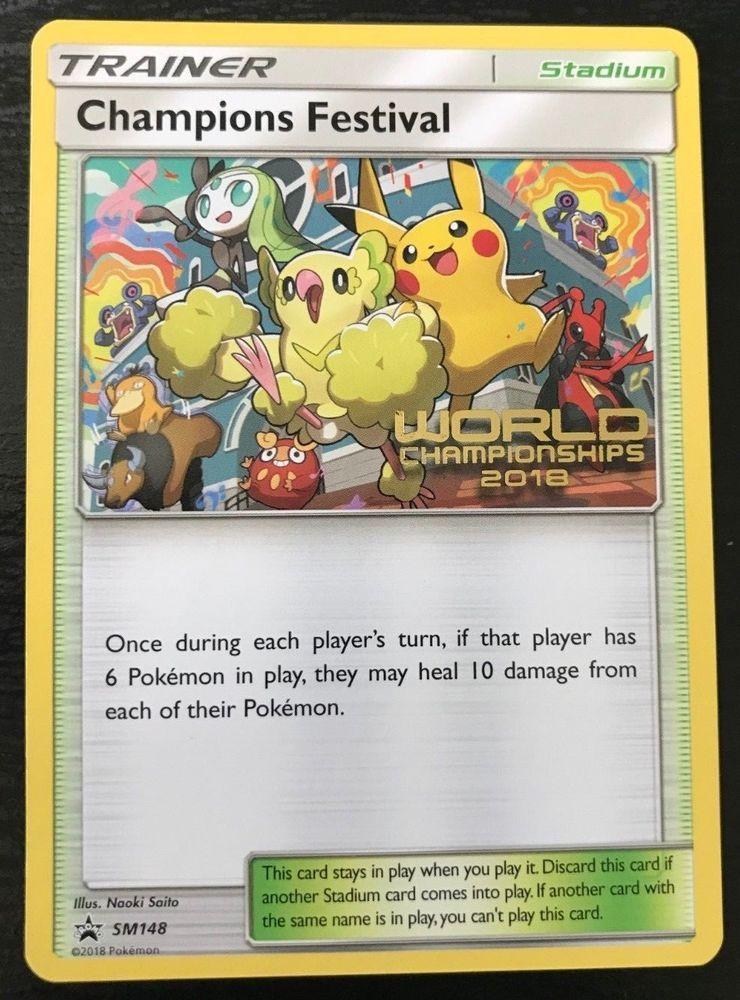 76a75182952 2018 Pokemon World Championships - Champions Festival English Promo - SM148  - Pokemon Gifts -  75.00 End Date  Sunday Jan-20-2019 17 01 44 PST Buy It  Now ...