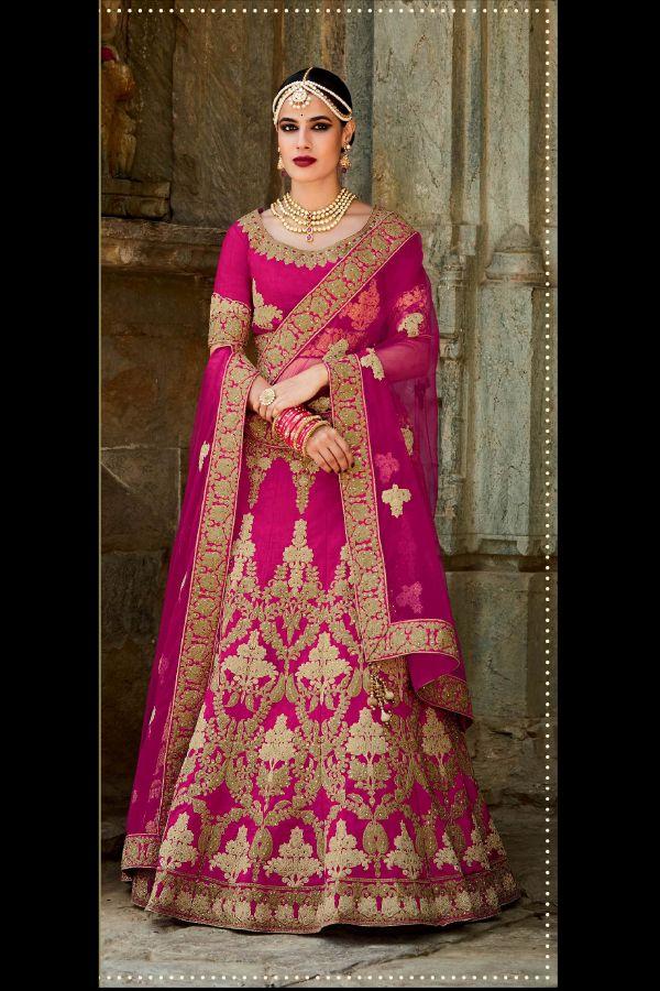 5727a5fe4c9 Magenta Color Mastani Silk Fabric Lehenga Choli