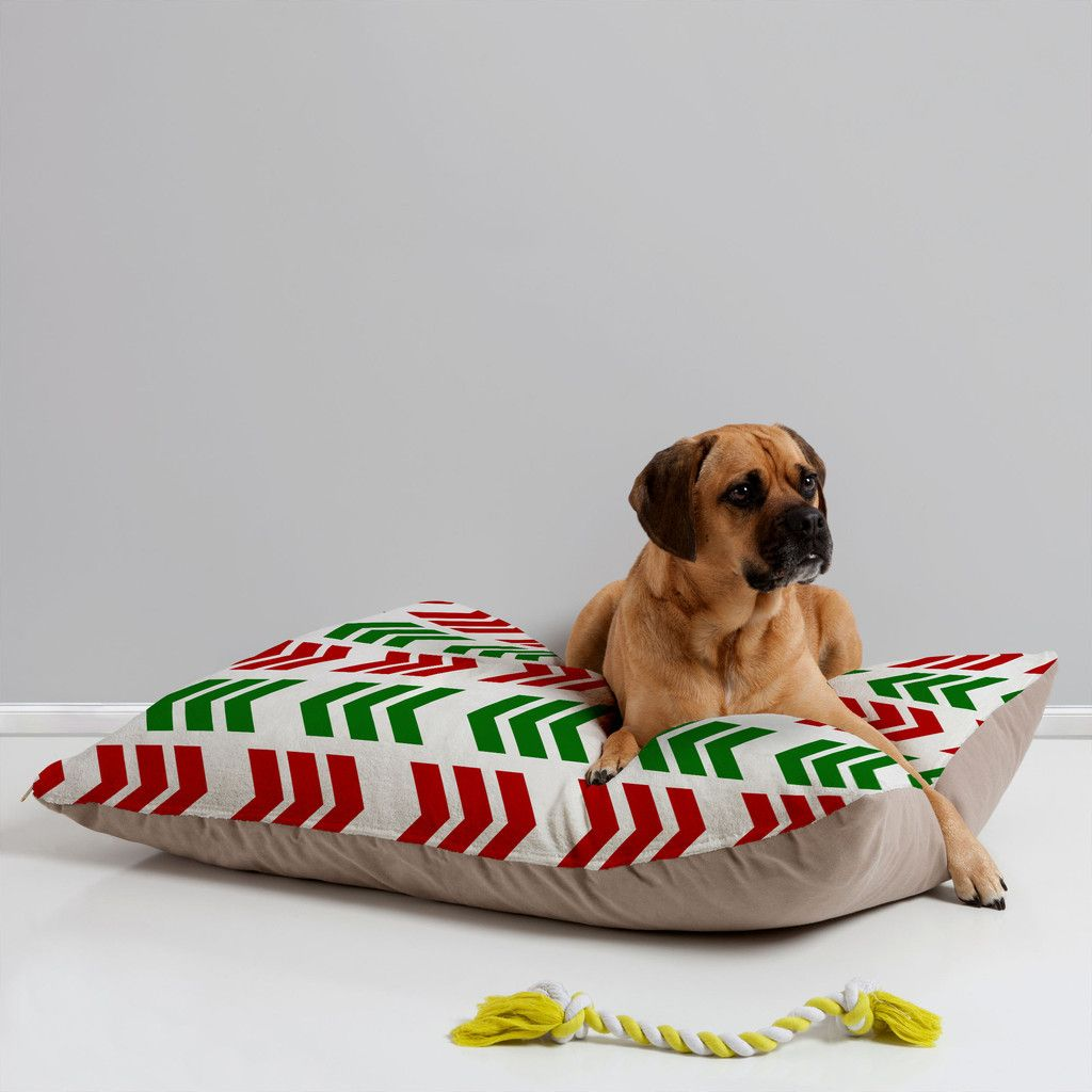 Lisa Argyropoulos Jolly Zig Zag Pet Bed Deny Designs Home Accessories Pet Bed Dog Bed Pet Cushions