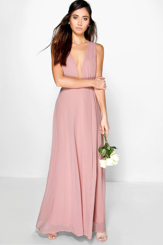 Eloise Wrap Front Chiffon Maxi Dress
