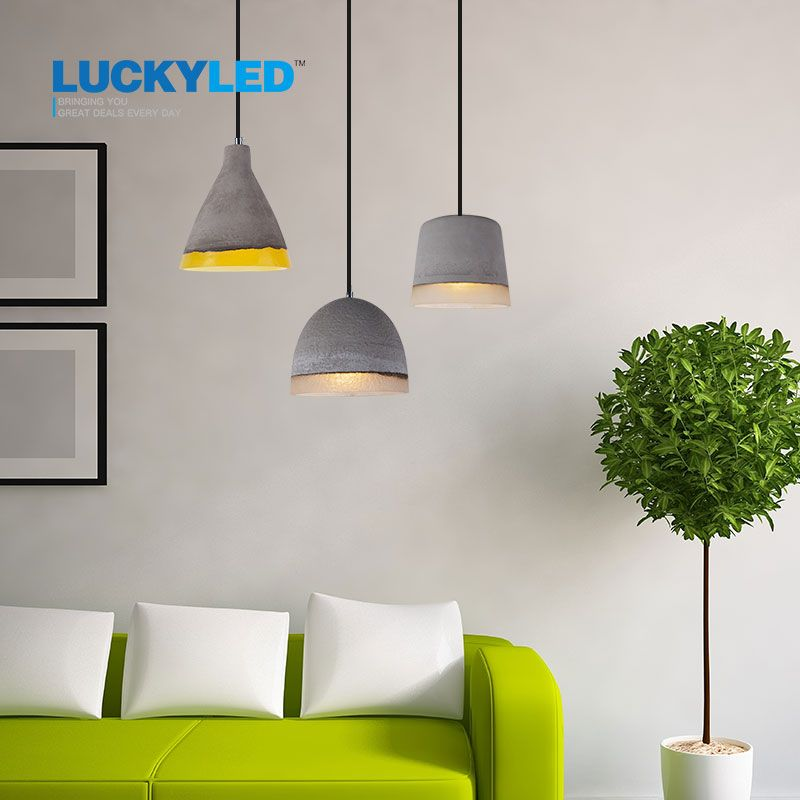 LUCKYLED modern pendant light vintage cement indoor Decoration ...