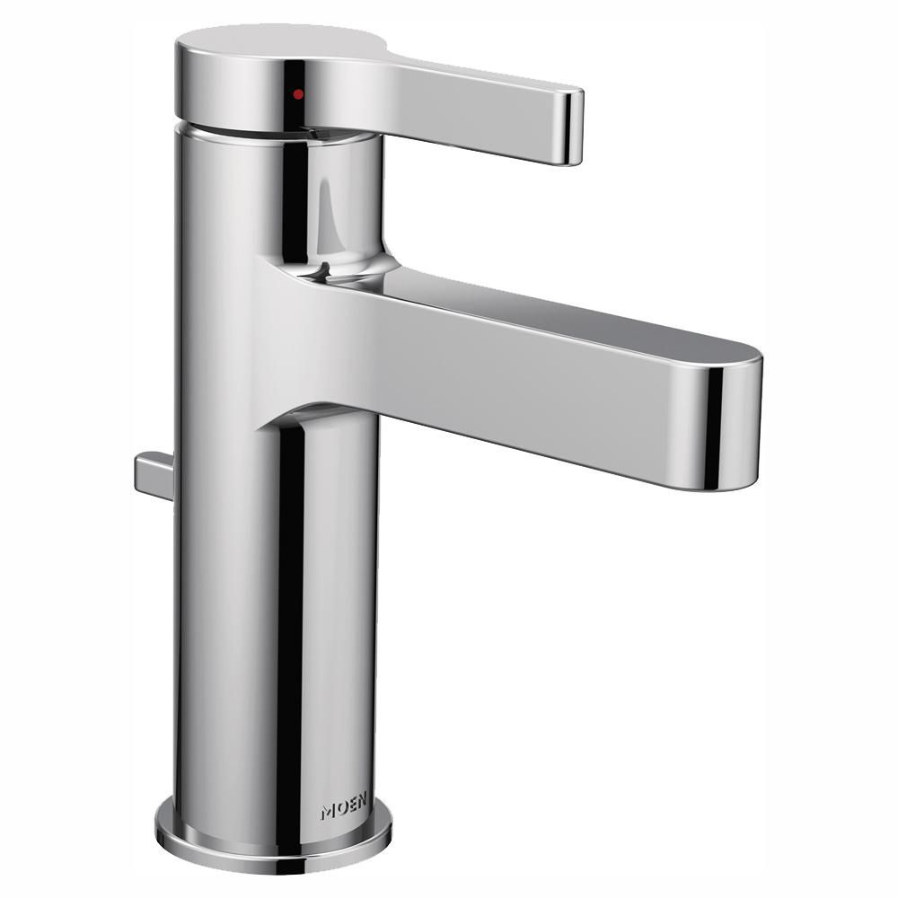 Moen Vichy Single Hole Single Handle Bathroom Faucet With Drain