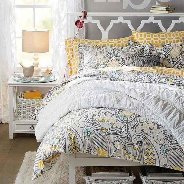 Pin On Brynn Room, Yellow And Gray Paisley Bedding