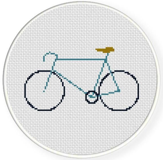 Racer Bike Cross Stitch Pattern | crossstitch | Pinterest | Punto de ...