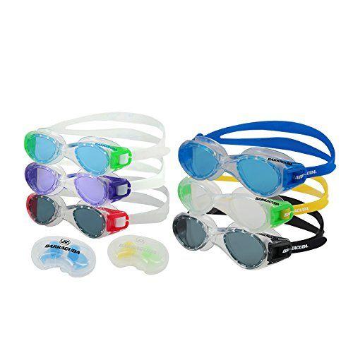 Barracuda Swimming Goggles 1 Titanium  1 Titanium Jr  get 1 pair of each of senior and junior silicone ear plugs FREE Titanium Jr Goggles ColorPurple Titanium Goggles ColorBlack ** To view further for this item, visit the image link.Note:It is affiliate link to Amazon.