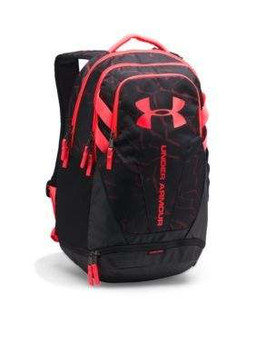 b15fb2b26ea0 Under Armour Black Marathon Red Hustle 3.0 Backpack