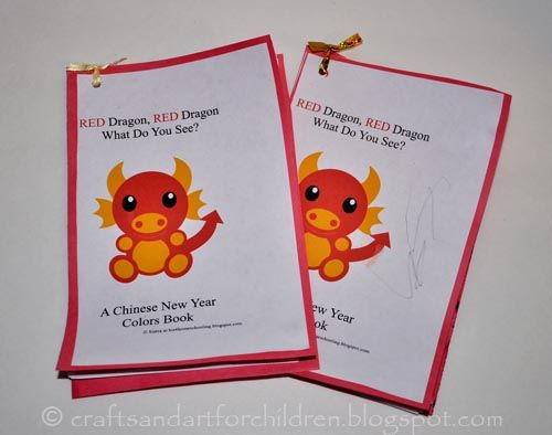 Free Printable Chinese New Year Book For Kids Chinese New Year Activities Chinese New Year Crafts Chinese New Year