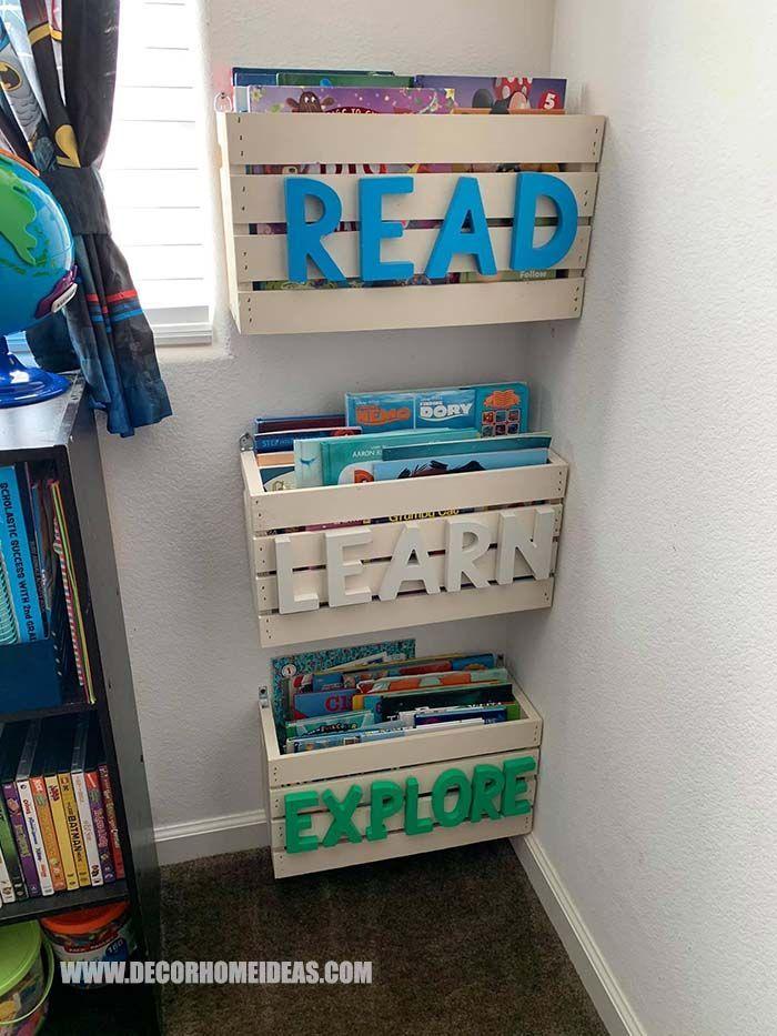 Toy Storage From Crates #toystorage #crates #diy #decorhomeideas
