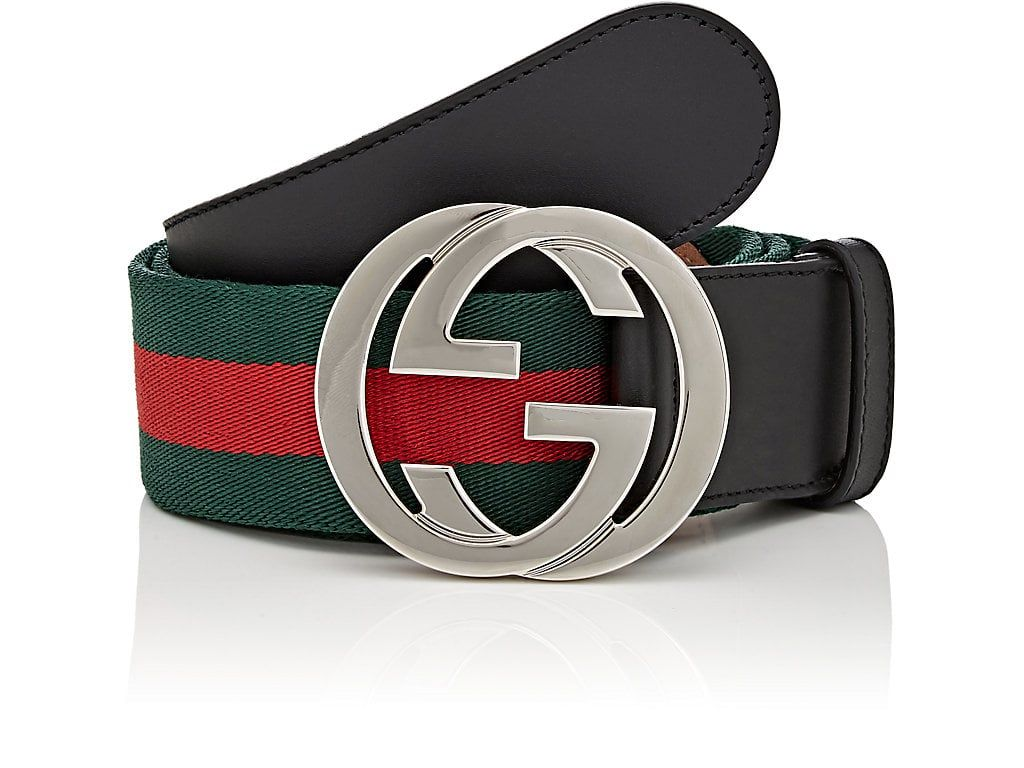 Gucci web striped canvas belt gucci mens leather