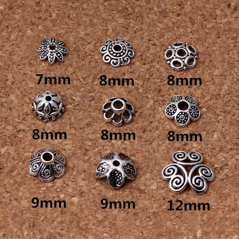 Tibetan Sliver Hollow Spacer Beads Bracelet DIY Jewelry Findings Making Acces