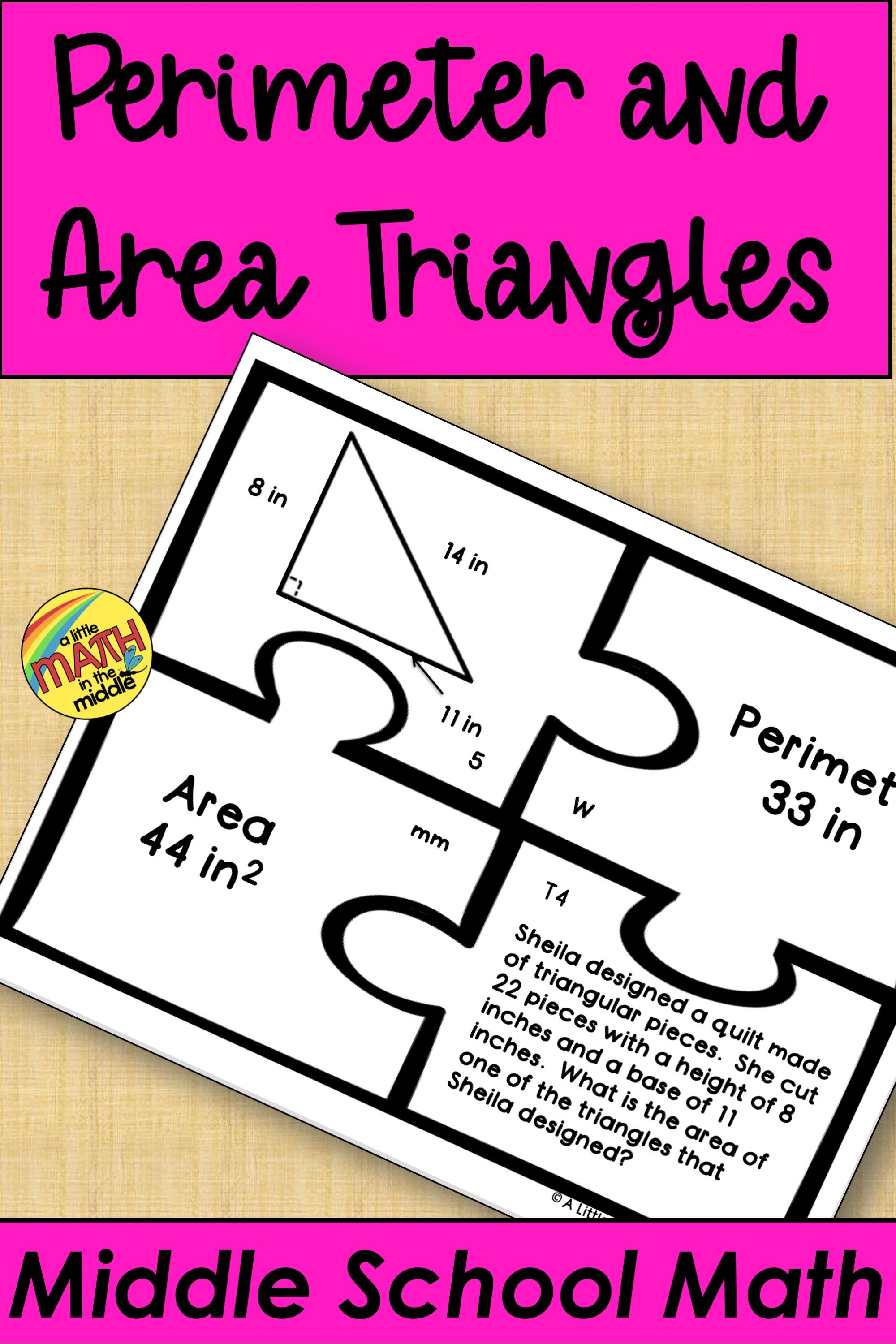 Perimeter And Area Of Triangles In