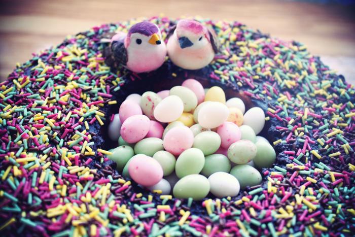 magnifique gâteau nid d'oizeau pour Pâââques