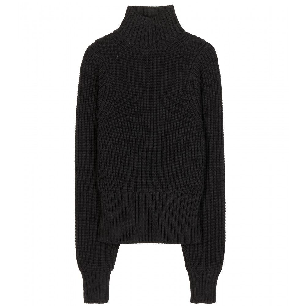 713f79d6545 Victoria Beckham - Cotton-blend turtleneck sweater - mytheresa.com ...