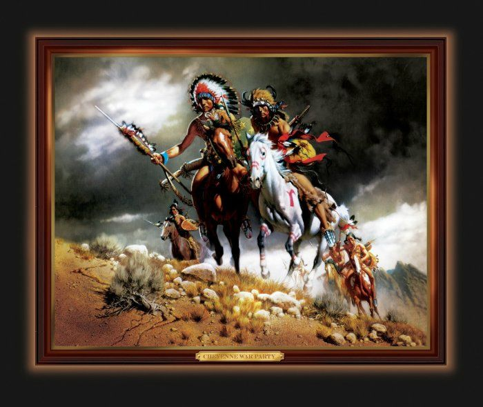Native American Wall Decor cheyenne war party native american-inspired illuminating print