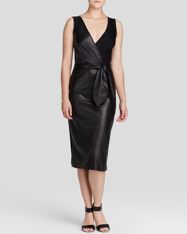 Diane von Furstenberg Dress - Bella Leather Mixed Media | Products ...