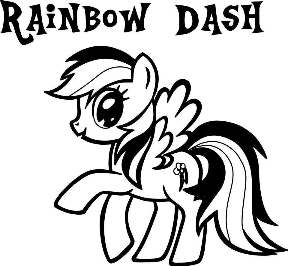 My Little Pony Rainbow Dash Die Cut Vinyl Sticker Decal Video