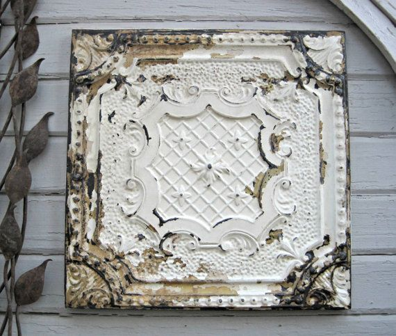 Antique Pressed Tin 2 X2 Framed Ceiling By Driveinservice Tiles