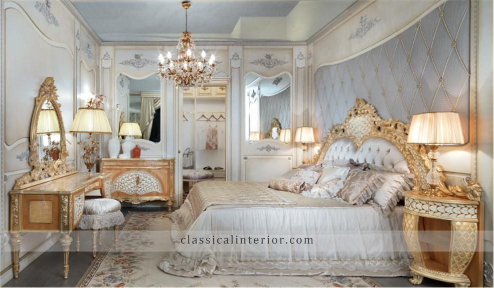 Golden Bedroom GO001BTop and Best Italian Classic Furniture | reda ...