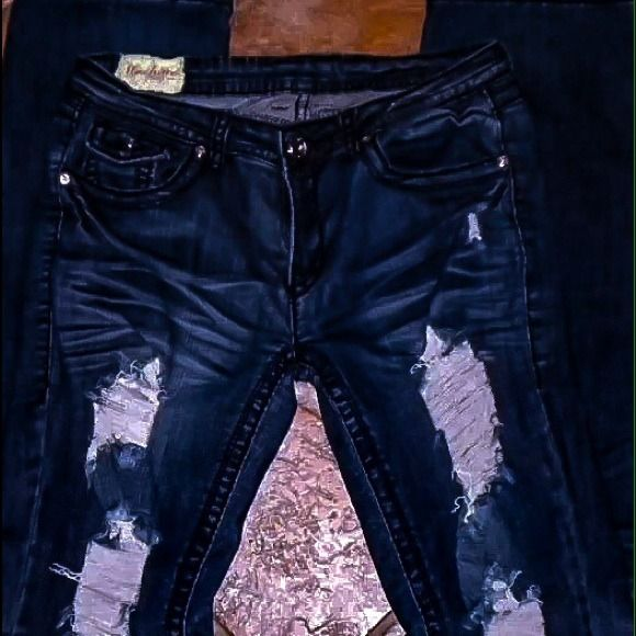 """""""Machine""""Jeans Destroyed Bootcut Perfect condition, Brand new. Size 5-7 inseam 33 1/2 Machine Jeans Jeans"""