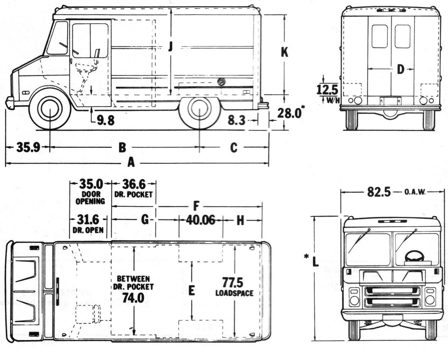 Chevrolet c30 blueprint student project ideas for Food truck blueprints