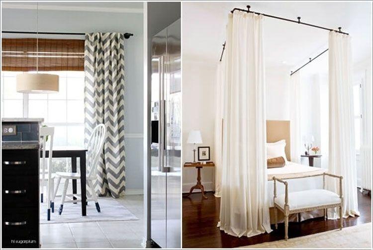 Bastone per tende e struttura baldacchino con tubi riciclati riciclo creativo pinterest - Struttura per letto a baldacchino ...