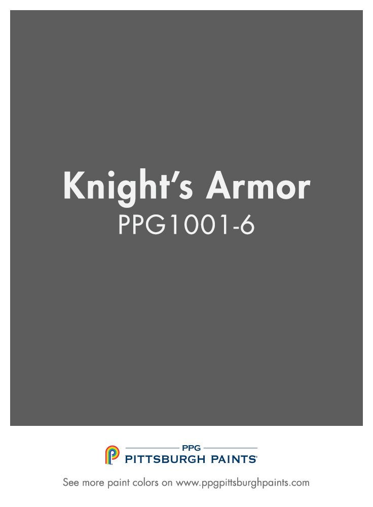Knights Armor Ppg1001 6 A Royally Appointed Gray For Your Home From