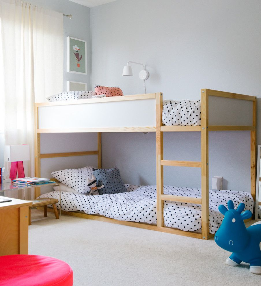 ikea bunk beds kids transitional with beige carpet bouncy toy - Ikea Kids Bedrooms Ideas