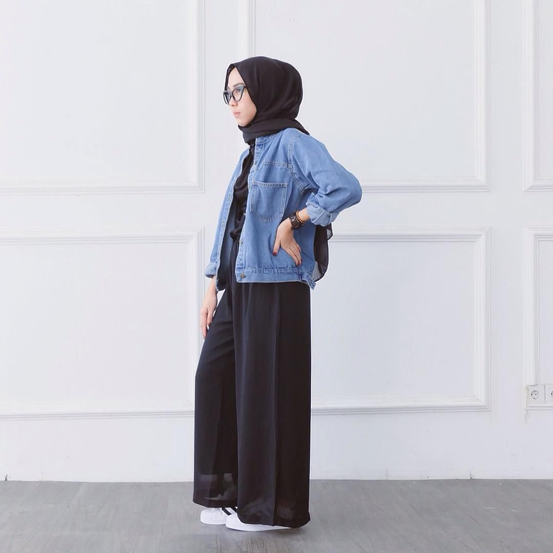 Pin by Hasna Uswatun Nisa on Casual hijab style | Moda ...