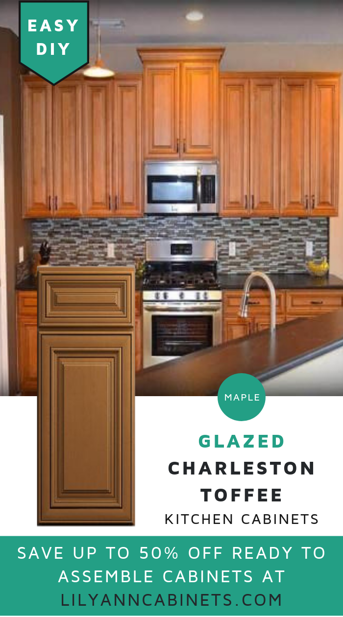 Lilyanncabinets Glazed Charleston Namesake Toffee Cabinets Made Of Maple Provide A Look Of E Kitchen Cabinets Beautiful Kitchen Cabinets New Kitchen Cabinets