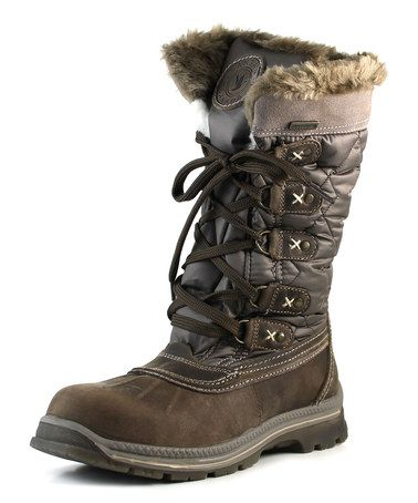 Love this Brown Mulino Leather Boot by Santana of Canada on #zulily! #zulilyfinds