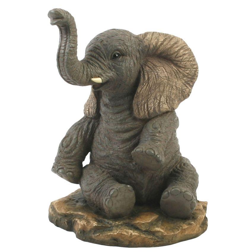 figurines elephant sitting figurines pinterest pinch pots. Black Bedroom Furniture Sets. Home Design Ideas