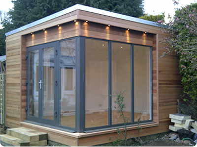 contemporary garden room for chris' dojo  contemporary