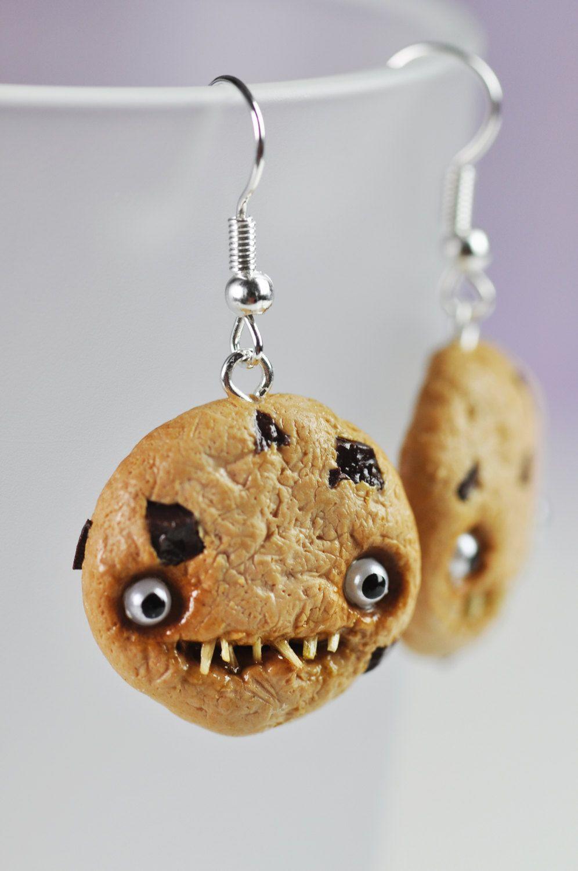 1ceed3e6cbe2 Earrings - Creepy Chocolate Chip Cookies. €8