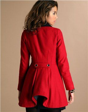 ASOS BUSTLE COAT JACKET VICTORIAN MILITARY 40s RIDING STEAMPUNK ...