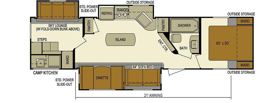 New 2015 Nomad 329bh 38 Long Or Layton Javelin 325bh Both