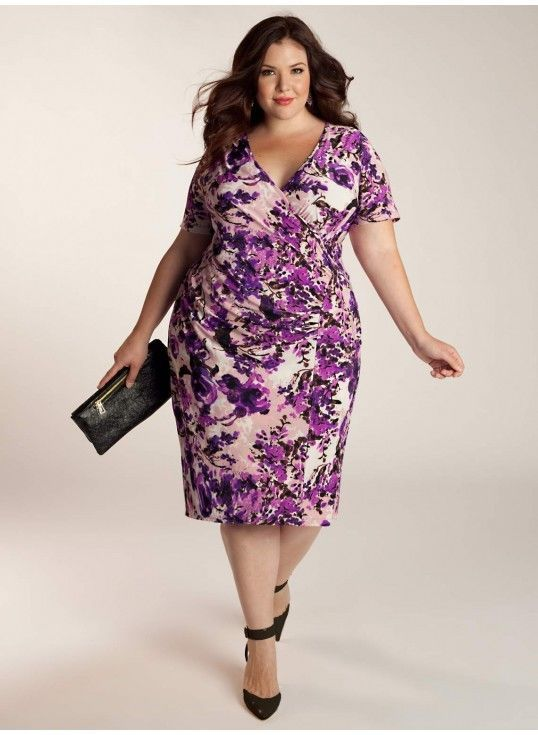 b10ce00b17 Igigi Plus Size Dress Size 26 28 4X Truda Style Purple Floral Print | eBay