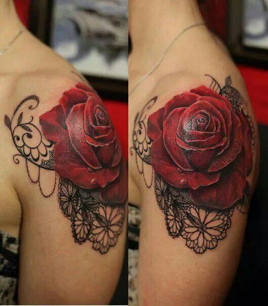 Pin By Christine Jarmer On Tats I Like: I Like The Floral With The Lace That Can Tie Into Current