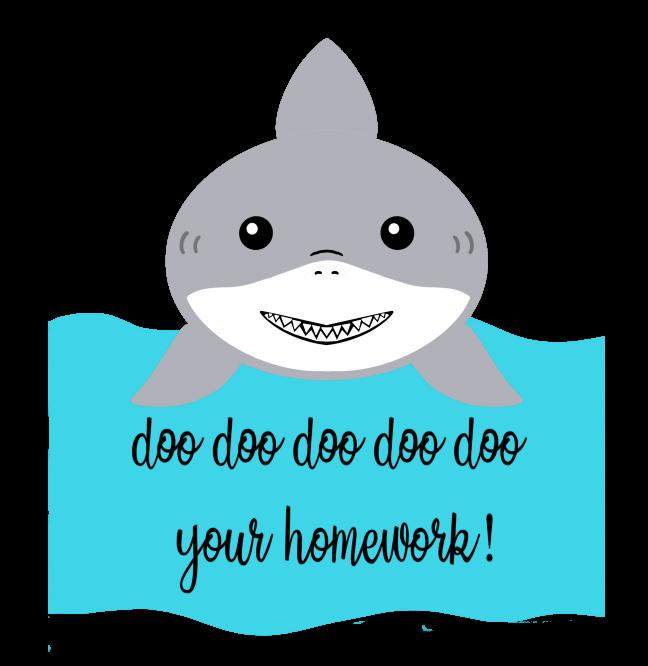 Teacher Shark Do Do Do Do Your Homework  SVG  PNG  Digital Download  Funny  Saying