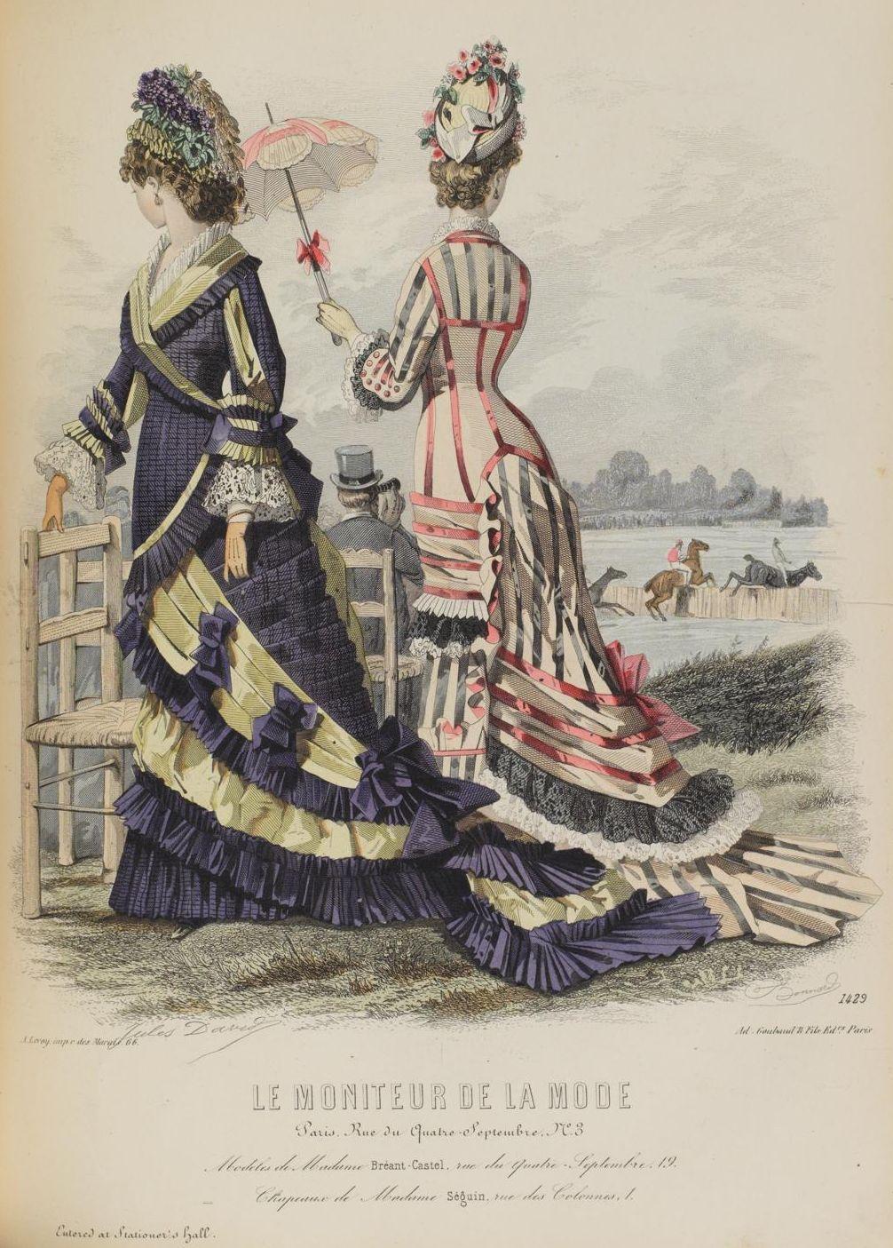 Le Moniteur de la Mode 1877 | Bustle Era 1870-1889 | Pinterest ...