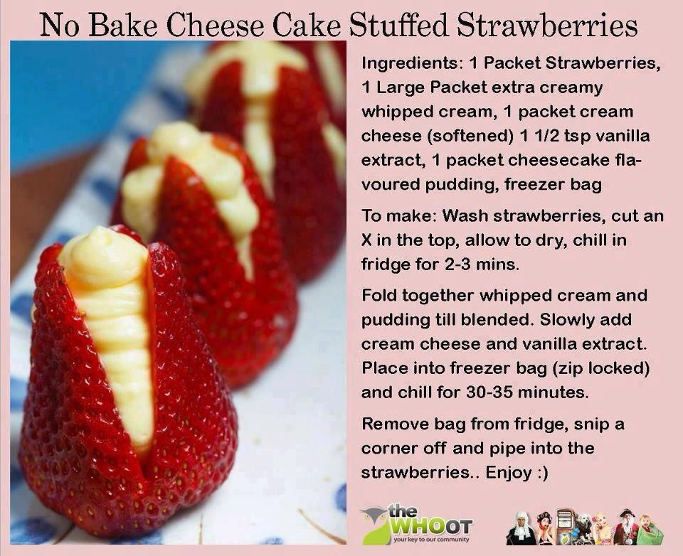 recipe: cheesecake stuffed strawberries pinterest [32]