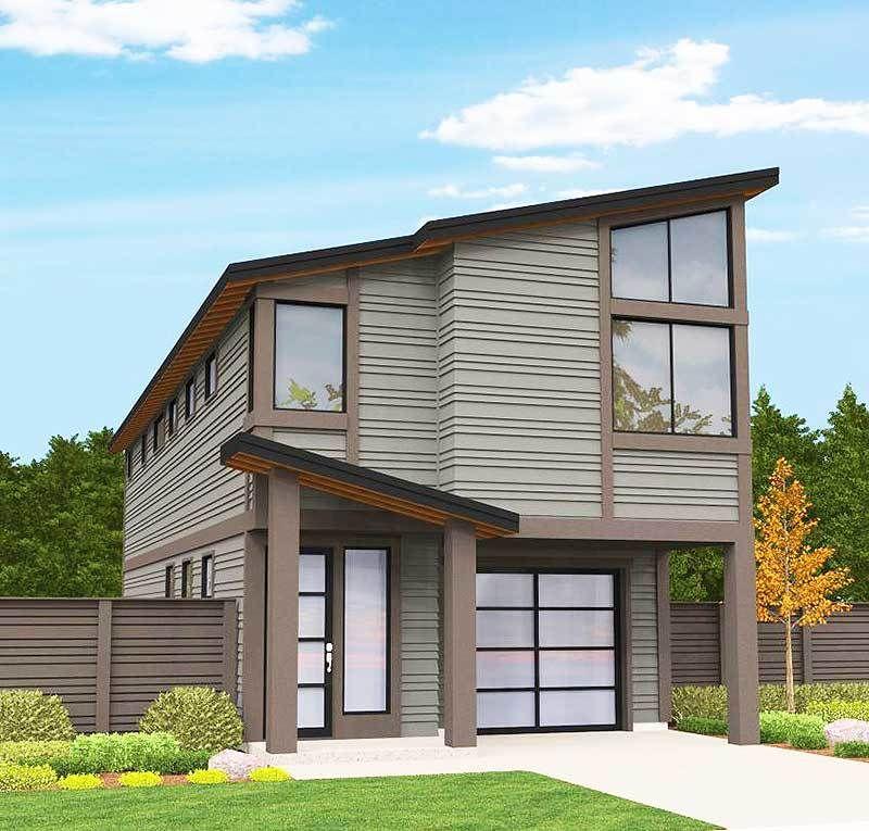 Plan 85101MS Modern Narrow Lot House Plan
