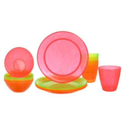 Munchkin 15pk Multi-Dining Toddler Cups, Bowls and Plates Set May work well for plastic plate needs and we know we love the bowls...is there a blue/green version on amazon???