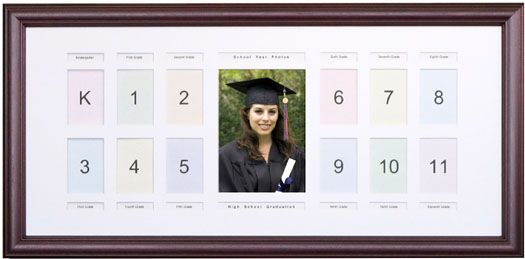 Large Personalized School Years Picture Frame holds wallet size and ...