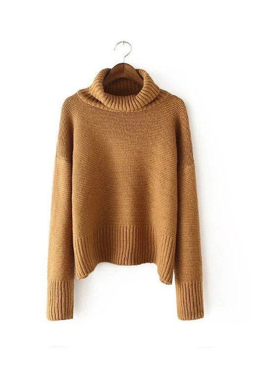 Jelena' Turtleneck Chunky Cotton Sweater - 5 Colors | Winter Style ...