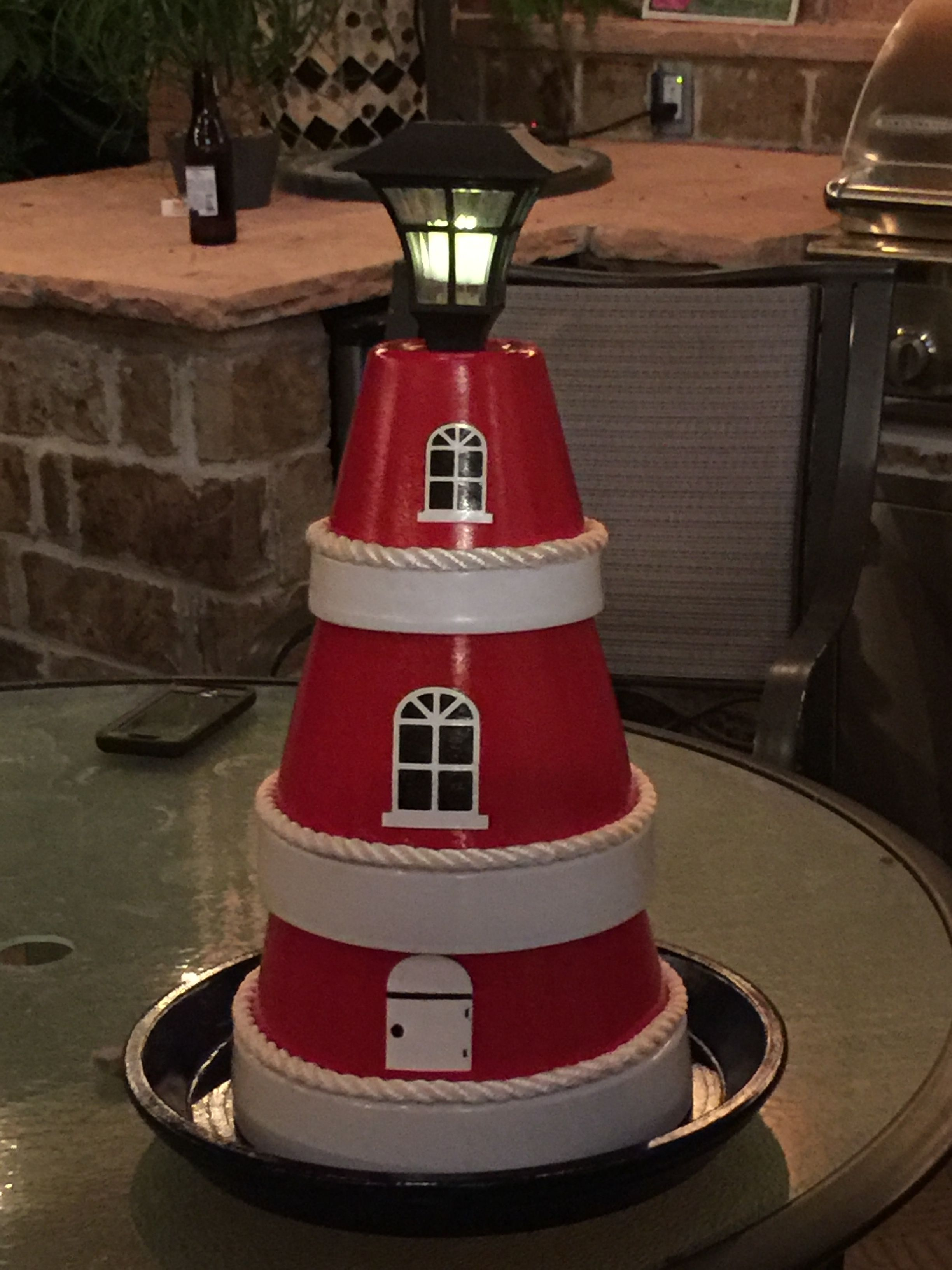 Lighthouse made from terra cotta planters | Terracotta ... on lighthouse statues, lighthouse art, lighthouse pots, lighthouse garden, lighthouse gifts, lighthouse sheds, lighthouse home, lighthouse sculptures, lighthouse pottery, lighthouse urns, lighthouse craft projects, lighthouse jewelry, lighthouse lighting, lighthouse flags, lighthouse books, lighthouse fountains, lighthouse plates, lighthouse candles, lighthouse furniture, lighthouse birdhouses,