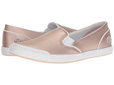 Lacoste Lancelle Slip-On 117 2 (Light Pink) Women's Slip on Shoes